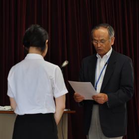 平成27年度 前期 濱名ミサヲ先生記念奨学生 授与式