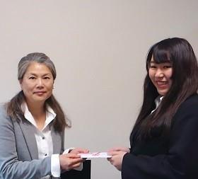 ソロプチミスト女子学生奨学金「クラブ賞」を受賞しました!