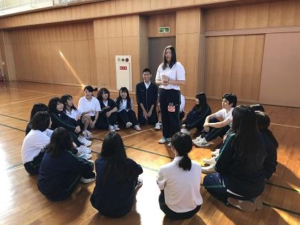 集団遊び(保育科1年生)